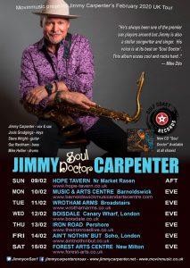 Jimmy Carpenter UK Tour